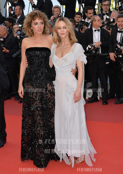 Actresses Valeria Golino &amp; Vanessa Paradis at the gala premiere for &quot;The Last Face&quot; at the 69th Festival de Cannes.<br /> May 20, 2016  Cannes, France<br /> Picture: Paul Smith / Featureflash