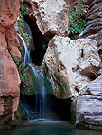 Royal Arch Creek flows over the Elves Chasm waterfall feature in the Grand Canyon National Park, Arizona (river mile 117.3)
