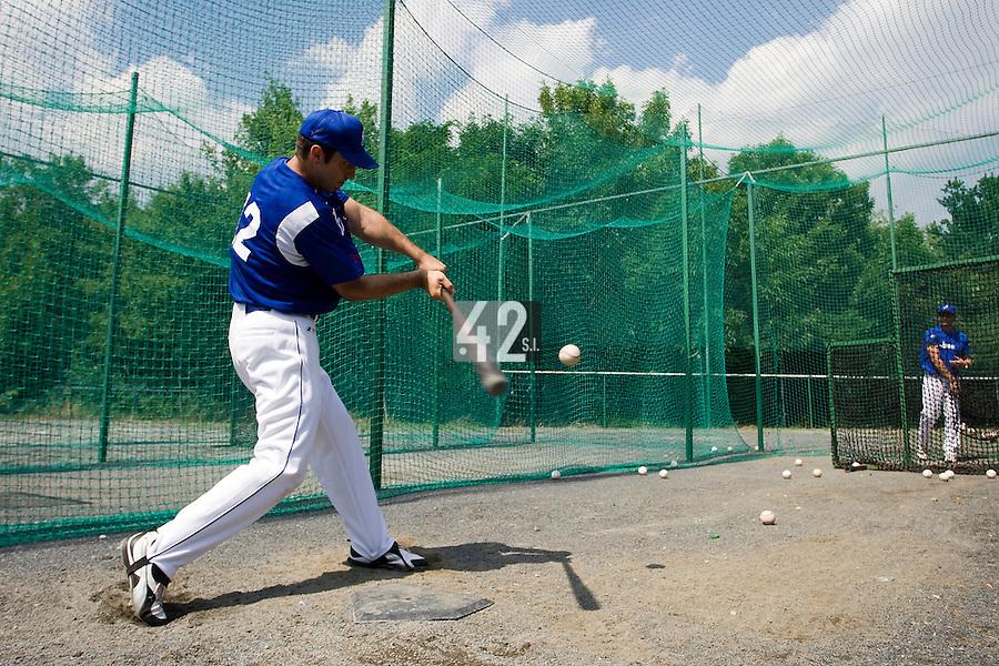 BASEBALL - GREEN ROLLER PARK - PRAGUE (CZECH REPUBLIC) - 24/06/2008 - PHOTO: CHRISTOPHE ELISE.SEBASTIEN BOYER (TEAM FRANCE)