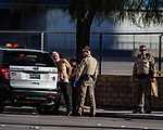 Las Vegas Metro makes arrest of homeless man on corner of Joe Brown and Sahara