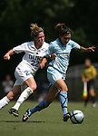 Kate Seibert (22), of Duke, tries to knock San Diego's Nicole Carriaga (6) off the ball on Sunday September 18th, 2005 at Koskinen Stadium in Durham, North Carolina. The Duke University Blue Devils defeated the University of San Diego Toreros 5-0 during the Duke adidas Classic soccer tournament.