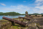 Fort Santiago was built in the early 1600's.  Portobelo was named by Christopher Columbus in 1502.  The town was founded in 1597 as a shipping point for Spanish treasure.  The harbor was protected by five Spanish forts.  A UNESCO World Heritage Site.