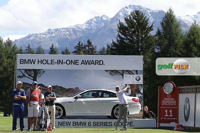 David Lipsky (USA) on Day 4 of the Omega European Masters 2012, Golf Club Crans-Sur-Sierre, Crans Montana, Switzerland, 01/09/12...(Photo Jenny Matthews/www.golffile.ie)