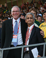 Dan Guinn and Sunil Gulati. USA stunned Brazil, winning 2-1 to finish first in their group. Final game in group D in Ottawa, Ontario, on JULY 6 2007.