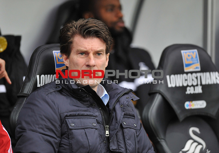 Swansea City Manager, Michael Laudrup -  01/01/2014 - SPORT - FOOTBALL - Liberty Stadium - Swansea - Swansea City v Manchester City - Barclays Premier League<br /> Foto nph / Meredith<br /> <br /> ***** OUT OF UK *****