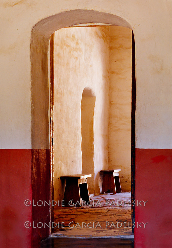 Arched Doors at La Purisma Concepcion, Lompoc, California