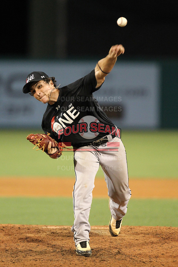 Nicholas Longhi during the Team One Futures Showcase East at Roger Dean Stadium on October 1, 2011 in Jupiter, Florida.  (Mike Janes/Four Seam Images)