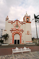 La Candelaria church in the Spanish colonial town of Tlacotalpan,  Veracruz, Mexico. Tlacotalpan is a UNESCO World Heritage Site.              .