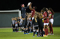 STANFORD, CA - September 27, 2018: Alison Jahansouz, Naomi Girma at Stanford Stadium. The Stanford Cardinal defeated the UCLA Bruins, 3-2.