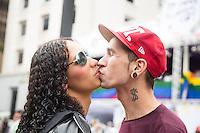 SAO PAULO, SP, 02 JUNHO 2013 - PARADA DO ORGULHO GLBT - Participante durante a 17 Parada do Orgulho LGBT na Avenida Paulista, na tarde deste domingo, 02. (FOTO: ADRIANA SPACA/ BRAZIL PHOTO PRESS).