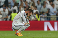 Real Madrid's Spanish  defense Sergio Ramos lamenting