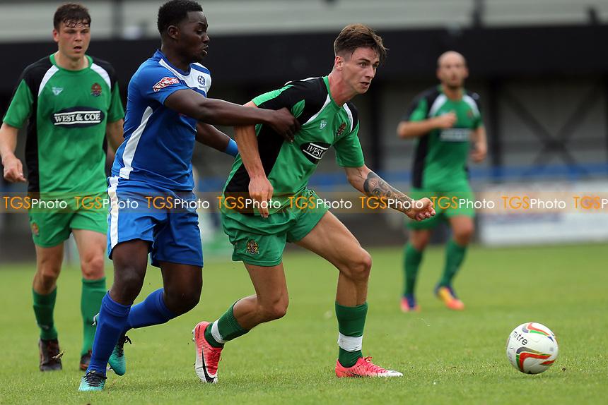 Oliver Hawkins of Dagenham during Bedford Town vs Dagenham & Redbridge, Friendly Match Football at The Eyrie on 15th July 2017