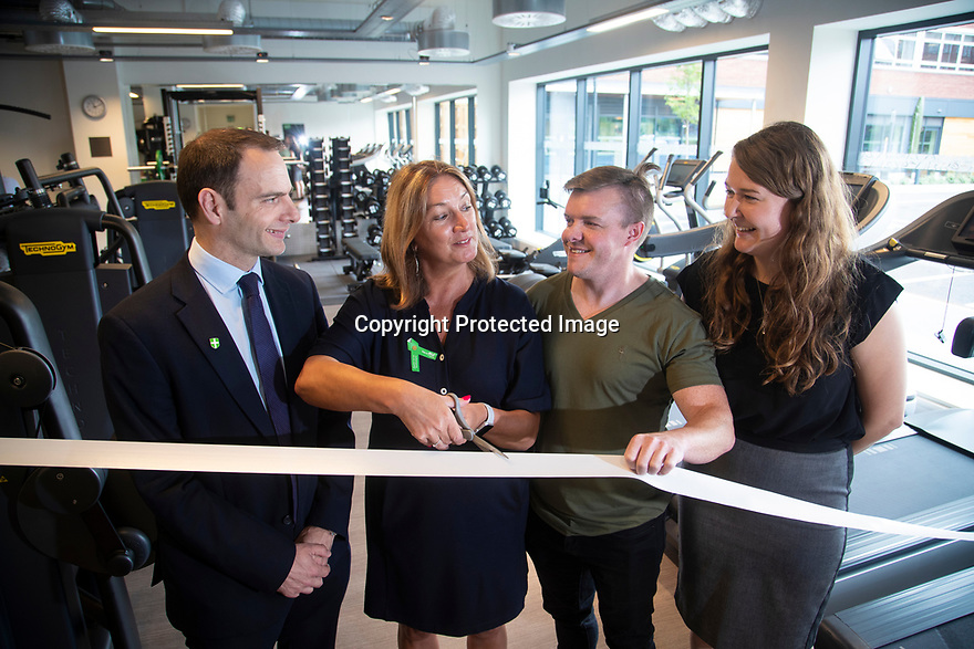 11/07/19<br /> <br /> <br /> Tim Cornell, June Clark, Andy Smith and Amy Wright.<br /> <br /> Nestlé opens its new gym at the company's York factory.<br /> <br /> All Rights Reserved: F Stop Press Ltd. +44(0)1335 418365   +44 (0)7765 242650 www.fstoppress.com