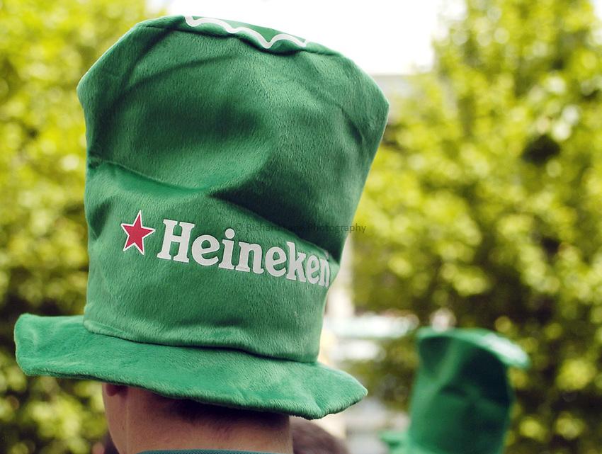 Photo: Jonathan Butler..London Wasps v Leicester Tigers. Heineken Cup Final. 20/05/2007..Heineken hats.