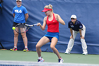 Washington, DC - August 5, 2017:  Eugenie Bouchard (CAN)in action during the match at Rock Creek Park Tennis Center in Washington, DC. (Photo by Elliott Brown/Media Images International)