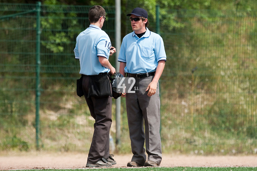 23 May 2009: Umpires are seen during the 2009 challenge de France, a tournament with the best French baseball teams - all eight elite league clubs - to determine a spot in the European Cup next year, at Montpellier, France. Rouen wins 6-2 over La Guerche.