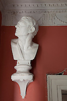 A plaster bust in the entrance hall
