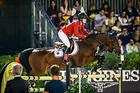 USA-Lauren Hough rides Ohlala during the Longines FEI Nations Cup Jumping Final. 2017 ESP-Longines FEI Nations Cup Jumping Final - CSIO Barcelona. Real Club de Polo de Barcelona. Saturday 30 September. Copyright Photo: Libby Law Photography