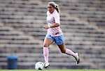 25 September 2011: North Carolina's Courtney Jones. The University of Virginia Cavaliers defeated the University of North Carolina Tar Heels 1-0 in overtime at Fetzer Field in Chapel Hill, North Carolina in an NCAA Division I Women's Soccer game. UNC players wore special pink jerseys for the game to be auctioned off as part of a fundraiser for the UNC Lineberger Comprehensive Cancer Center.