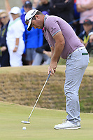 Ryan Fox (NZL) takes his putt to tie on the playoff 18th green during Sunday's Final Round of the 2018 Dubai Duty Free Irish Open, held at Ballyliffin Golf Club, Ireland. 8th July 2018.<br /> Picture: Eoin Clarke   Golffile<br /> <br /> <br /> All photos usage must carry mandatory copyright credit (&copy; Golffile   Eoin Clarke)
