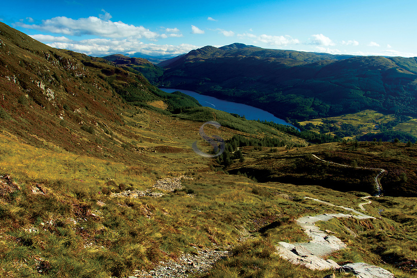 Loch Lubnaig from Ben Ledi, Loch Lomond and the Trossachs National Park, Stirlingshire