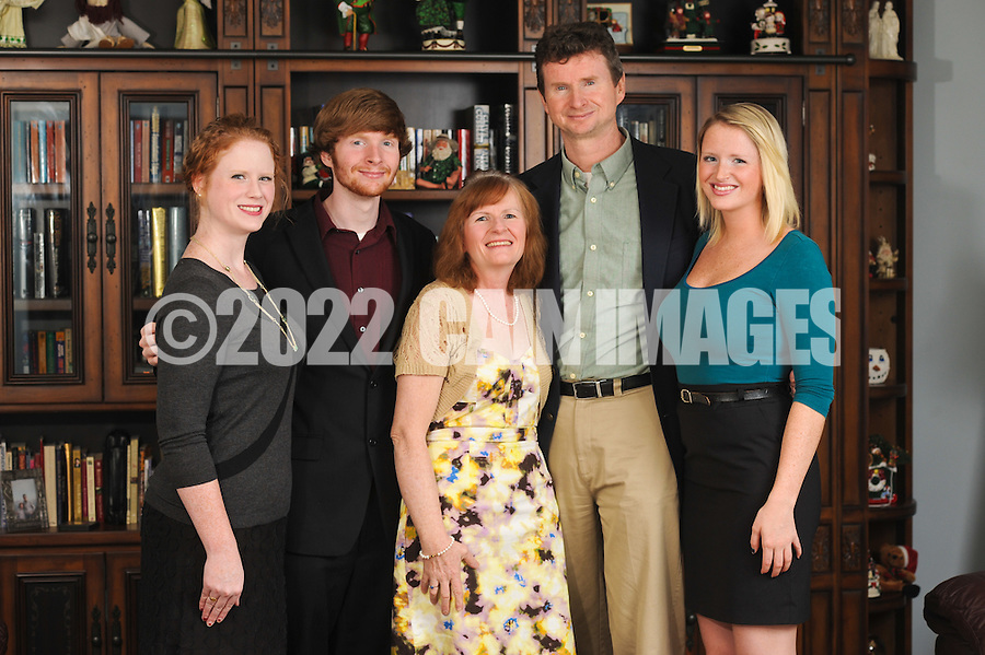DOWNINGTOWN, PA - DECEMBER 14:  The Kerr family is photographed December 14, 2011 in Downingtown, Pennsylvania. (Photo by William Thomas Cain/cainimages.com)