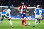 Atletico de Madrid Saul Niguez and Leganes Martin Mantovani nd Unai Bustinza during La Liga match between Atletico de Madrid and Leganes at Wanda Metropolitano Stadium in Madrid , Spain. February 28, 2018. (ALTERPHOTOS/Borja B.Hojas)