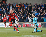 Kenny Miller scores goal no 3 for Rangers and celebrates