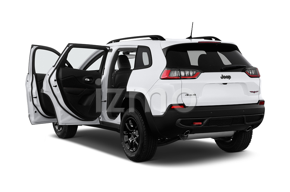 Car images close up view of a 2019 Jeep Cherokee Trailhawk 5 Door SUV doors