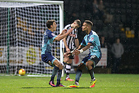 Scott Kashket of Wycombe Wanderers celebrates his goal with Paris Cowan-Hall of Wycombe Wanderers during the Sky Bet League 2 match between Notts County and Wycombe Wanderers at Meadow Lane, Nottingham, England on 10 December 2016. Photo by Andy Rowland.