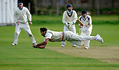 Scottish National Cricket League, Premier Div - Dunfermline CC V Aberdeenshire CC, at McKane Park, Dunfermline - Catch of the Day from Dunfermline recruit Aparajit Singh, playing his first game for the club, taking Aberdeenshire's Tomlinson, caught and bowled, at full length for a duck - Picture by Donald MacLeod 25.04.10 - mobile 07702 319 738