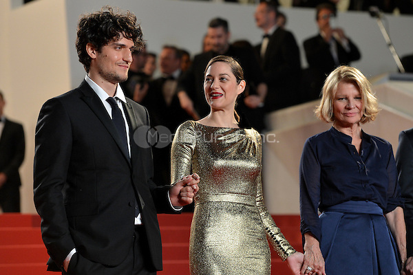 Louis Garrel, Marion Cotillard and Nicole Garcia at the &acute;Mal de Pierres` screening during The 69th Annual Cannes Film Festival on May 15, 2016 in Cannes, France.<br />