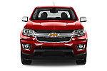 Car photography straight front view of a 2015 Chevrolet Colorado LT Crew Cab Long Box 4 Door Truck Front View