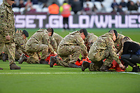 Army during West Ham United vs Burnley, Premier League Football at The London Stadium on 3rd November 2018