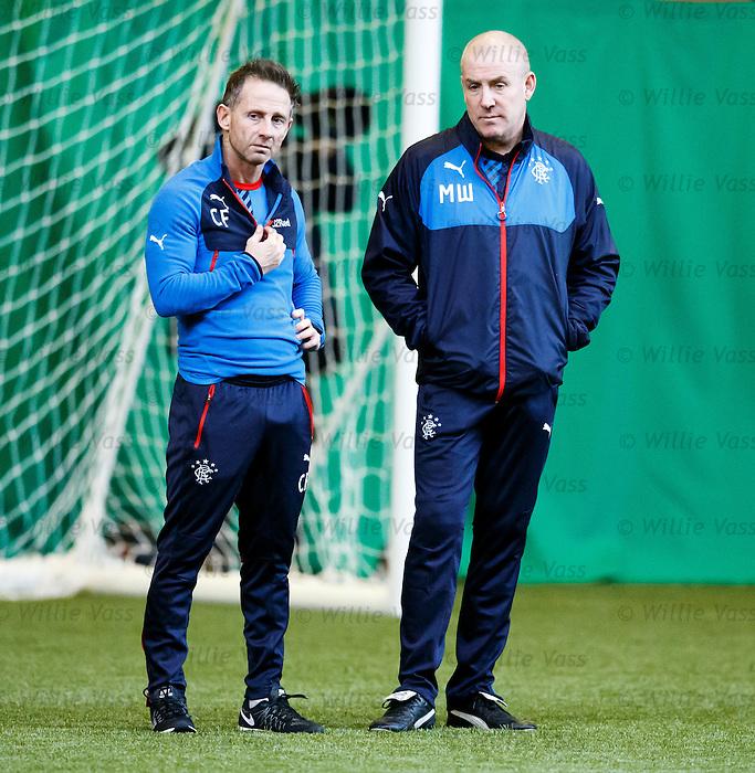 Performance coach Craig Flannigan and manager Mark Warburton