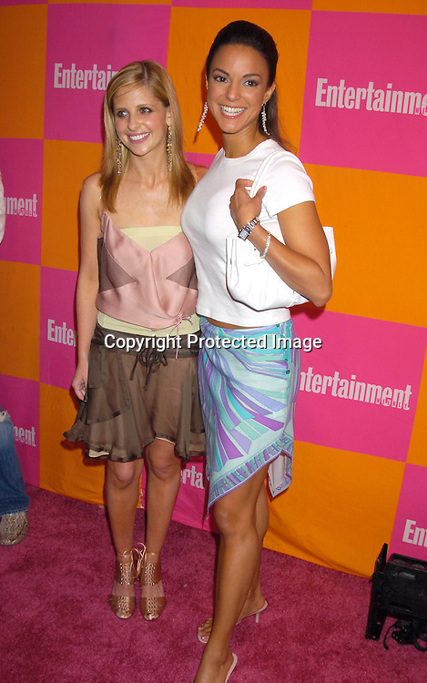 "Sarah Michelle Gellar and Eva La Rue ..at The Entertainment Weekly's ""The Must List"" party at ..Crobar in New York City on June 17, 2004. ..Photo by Robin Platzer, Twin Images"