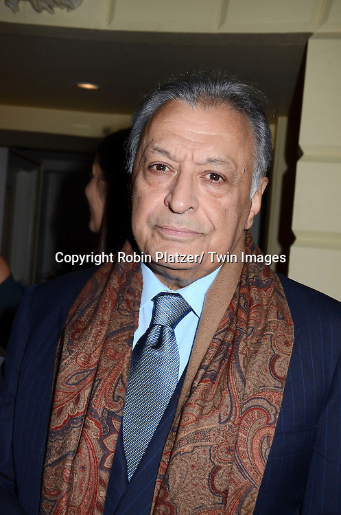 Zubin Mehta attends the Sirio Ristorante New York opening in the Pierre Hotel, a TAJ Hotel on October 24, 2012 in New York City. Sirio Maccioni hosted the party