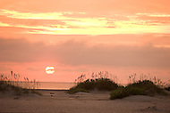 Sunrise or sunset on the beach at South Core Banks, North Carolina