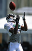 Frankie Hammond #14 works on kick returns during a day of New York Jets Training Camp at Atlantic Health Jets Training Center in Florham Park, NJ on Monday, July 31, 2017.