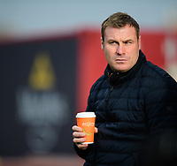 Mansfield Town manager David Flitcroft during the pre-match warm-up<br /> <br /> Photographer Chris Vaughan/CameraSport<br /> <br /> The EFL Sky Bet League Two - Lincoln City v Mansfield Town - Saturday 24th November 2018 - Sincil Bank - Lincoln<br /> <br /> World Copyright &copy; 2018 CameraSport. All rights reserved. 43 Linden Ave. Countesthorpe. Leicester. England. LE8 5PG - Tel: +44 (0) 116 277 4147 - admin@camerasport.com - www.camerasport.com