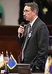 Nevada Sen. Scott Hammond, R-Las Vegas, speaks on the Senate floor at the Legislative Building in Carson City, Nev., on Monday, Feb. 18, 2013. .Photo by Cathleen Allison