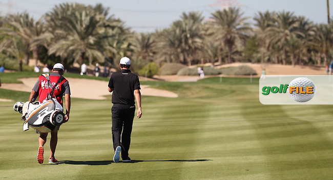 Justin Rose (ENG) on the 8th during the second round at the Abu Dhabi HSBC Golf Championship in the Abu Dhabi golf club, Abu Dhabi, UAE..Picture: Fran Caffrey/www.golffile.ie.