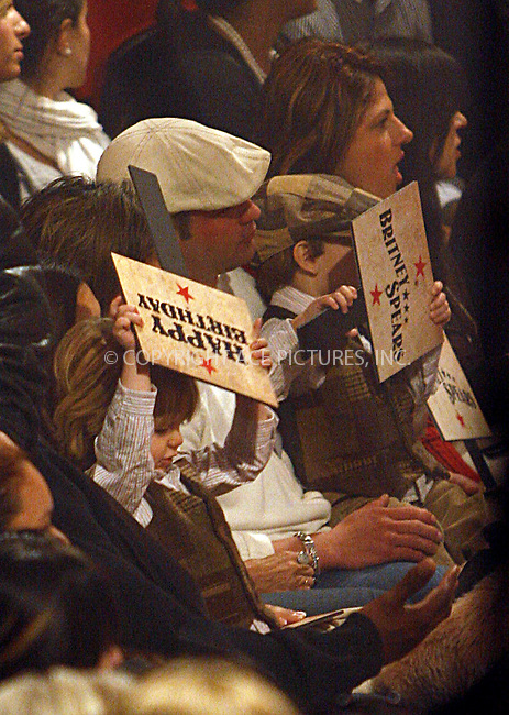 WWW.ACEPIXS.COM . . . . .  ....December 2 2008, New York City....Singer Britney Spears was watched by her sons Sean Preston and Jayden James Who held up 'Happy Birthday' signs as she performed for 'Good Morning America' in a circus tent at the Lincoln Center on December 2 2008 in New York City....Please byline: NANCY RIVERA- ACE PICTURES.... *** ***..Ace Pictures, Inc:  ..tel: (646) 769 0430..e-mail: info@acepixs.com..web: http://www.acepixs.com
