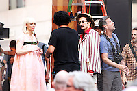 NEW YORK, NY-July 16: Bong Joon-Ho, Jake Gyllenhaal, Tida Swinton shooting on location for Netflix & Plan B Enterainment  film Okja in New York. NY July 16, 2016. Credit:RW/MediaPunch