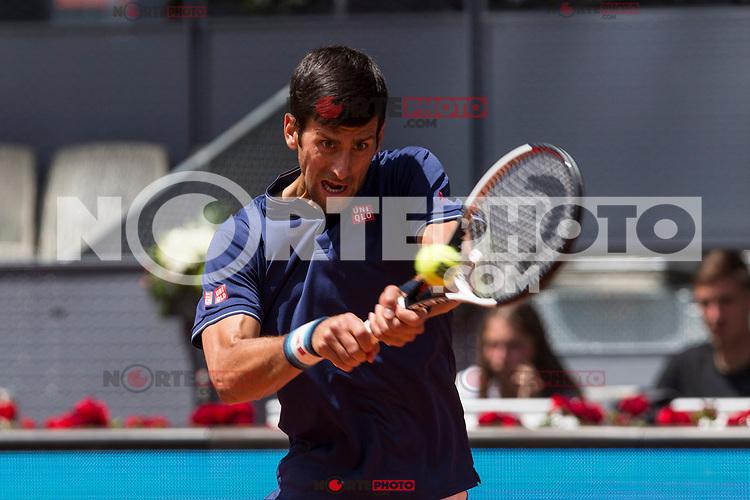 Novak Djokovic during the Mutua Madrid Open Tennis 2017 at Caja Magica in Madrid, May 10, 2017. Spain. /NortePhoto.com **NortePhoto.com