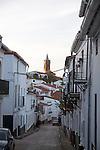 Neoclassical church Iglesia Espiritu Santo, Fuenteheridos village, Sierra de Aracena, Huelva province, Spain