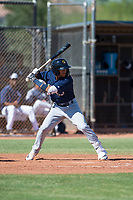 Milwaukee Brewers second baseman Daniel Castillo (65) at bat during an Instructional League game against the San Diego Padres at Peoria Sports Complex on September 21, 2018 in Peoria, Arizona. (Zachary Lucy/Four Seam Images)