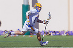 Santa Barbara, CA 04/16/16 - Sean Harvey (UCSB #22) in action during the final regular MCLA SLC season game between Chapman and UC Santa Barbara.  Chapman defeated UCSB 15-8.