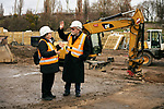 Germany, Berlin, 2018/01/24<br /> <br /> Carl-Wolfgang Holzapfel and his wife stand on front of the construction site by the remains of a ramshackle he and his companions used to cover up the work on a tunnel from West- to East-Berlin in 1963. Photo by Gregor Zielke (Photo by Gregor Zielke)