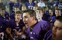 NWA Democrat-Gazette/CHARLIE KAIJO Fayetteville High School football players react following a 64-34 victory against Southside High School during a playoff football game on Friday, November 10, 2017 at Fayetteville High School in Fayetteville.
